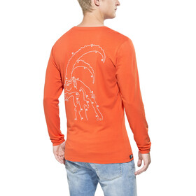 Gentic Lines Game - Camiseta de manga larga Hombre - naranja